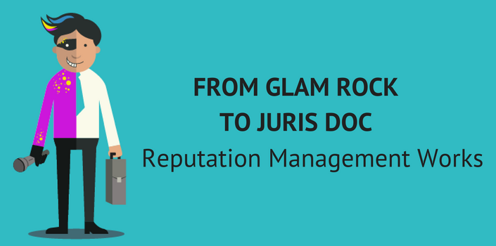 Reputation Management helped Gavin go from glam rock to juris doc