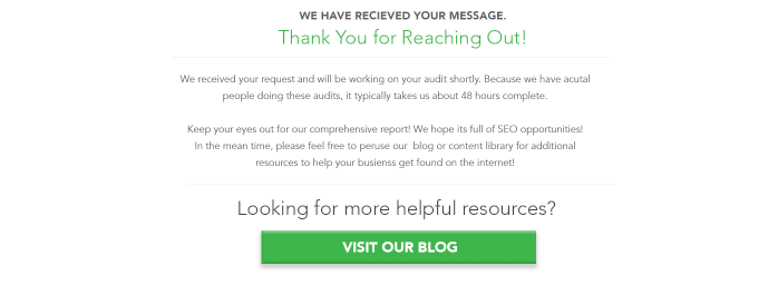 Increase conversions with thank you pages.