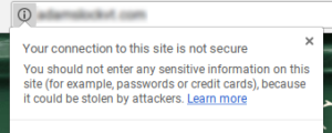 Avoid this Google security warning.