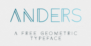 A popular font trend is geometric fonts.