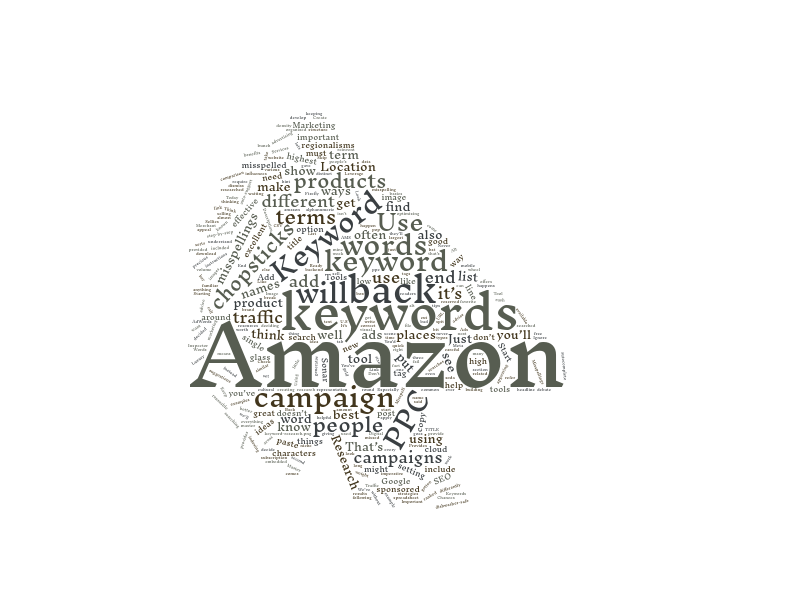 Use a wordcloud to figure out the most popular keywords.