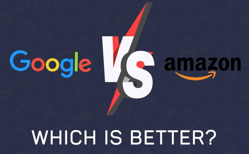 google versus amazon infographic